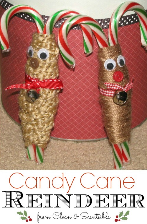 These candy cane reindeer are so cute!  Easy for kids to make too!