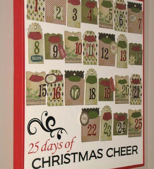 Cute Christmas Activity Advent Calendar tutorial.