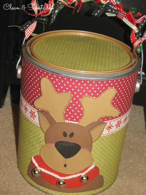 Paint Can Packaging - Such a fun way to wrap up a Christmas gift!
