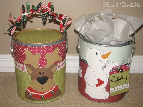 Paint Can Packaging - Such a cute way to wrap up a Christmas present!