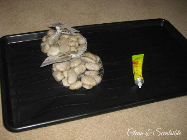 Pebble Boot Tray - stylish, functional and SO easy to do!