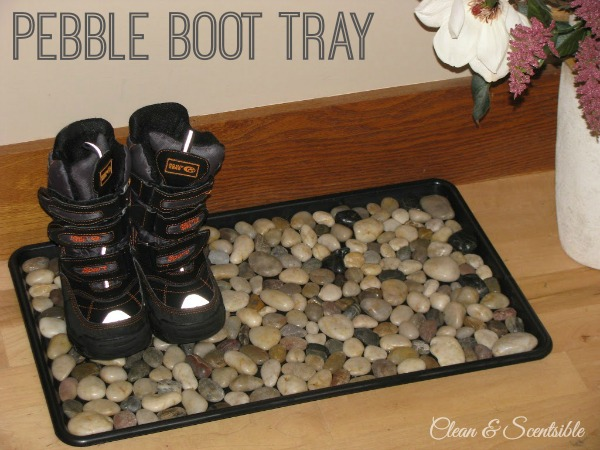 Pebble Boot Tray - stylish, functional, and SO easy to do!