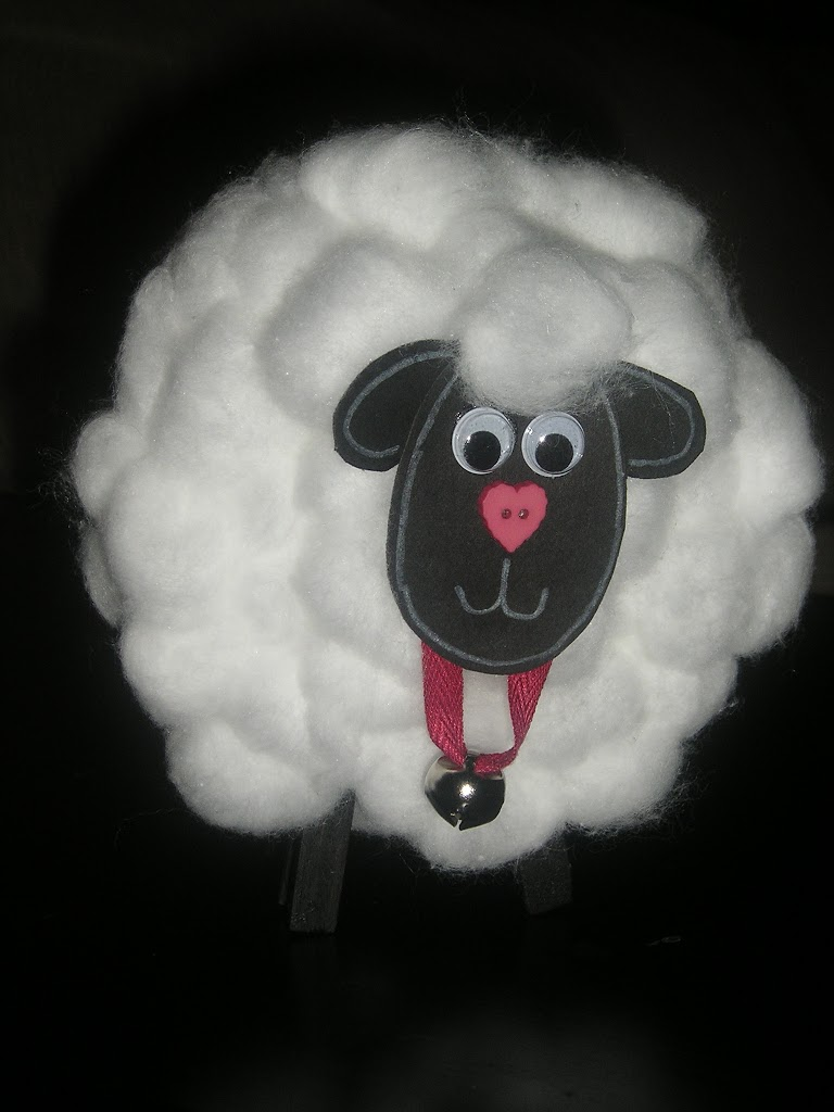 Celebrating 100 Day Cotton Ball Sheep Clean And Scentsible Bal