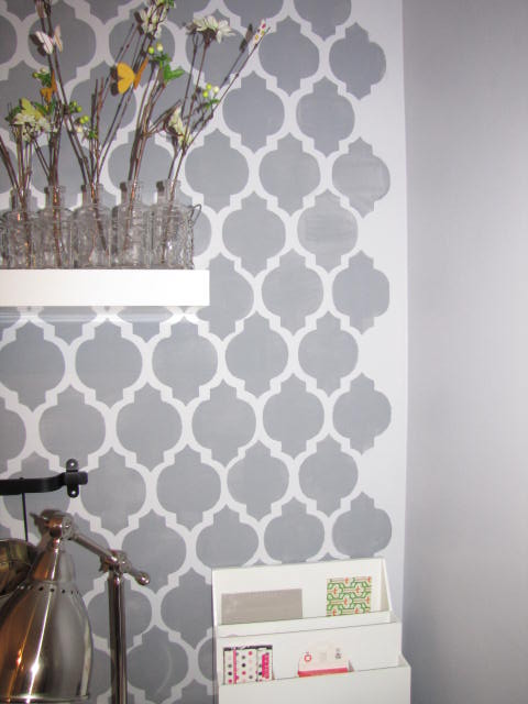 How To Stencil A Wall Clean And Scentsible