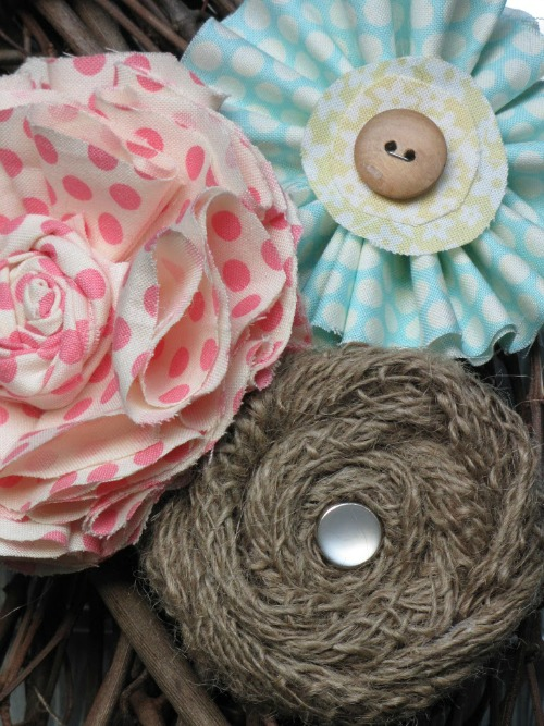 Easy to make fabric flowers.