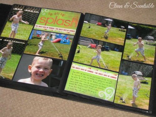 Quick and easy scrapbooking.  This is such a great way to get caught up on old photos and use up left over scrapbook supplies!