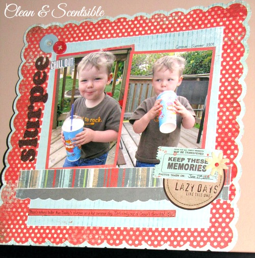 Cute scrapbook pages.