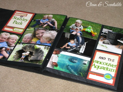Quick and easy scrapbooking.  Such a great way to get caught up on old pictures and still having a little creative fun!