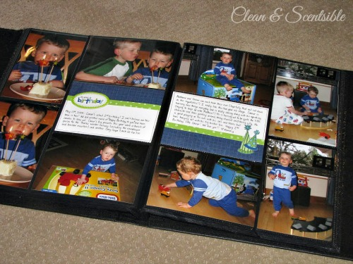 Quick and easy scrapbooking.  This is such a great way to get caught up on old pictures and use up old scrapbook supplies!