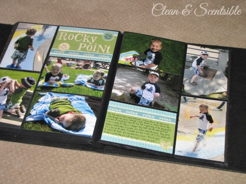 Quick and easy scrapbooking.  Such a great way to get caught up on all of those old photos and use up left over scrapbook supplies!