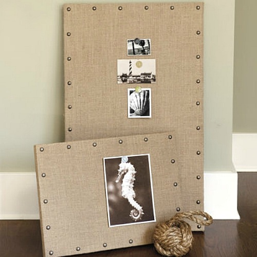 Ballard inspired DIY Burlap Bulletin Board tutorial. // from Clean and Scentsible