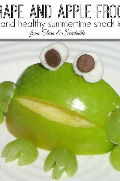 Apple frogs - such a fun and healthy snack idea!