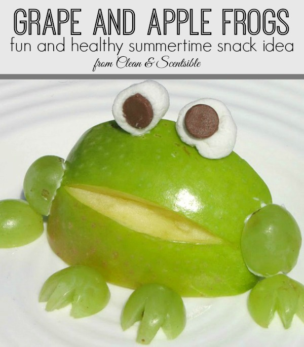 Apple frogs - such a fun and healthy snack idea for kids!