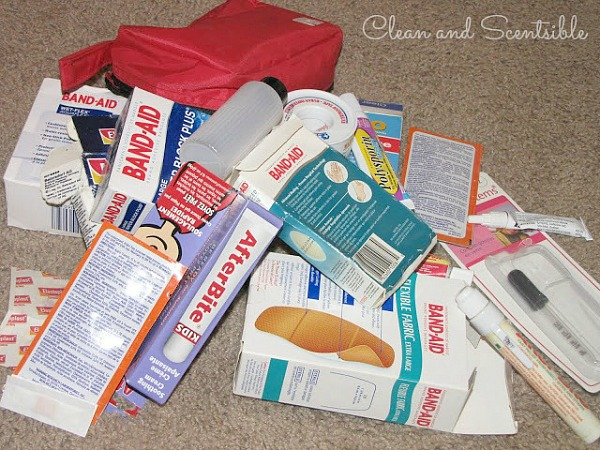 Learn how to organize first aid supplies.