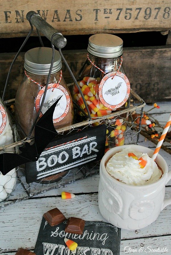 I love this fun Halloween hot chocolate bar!