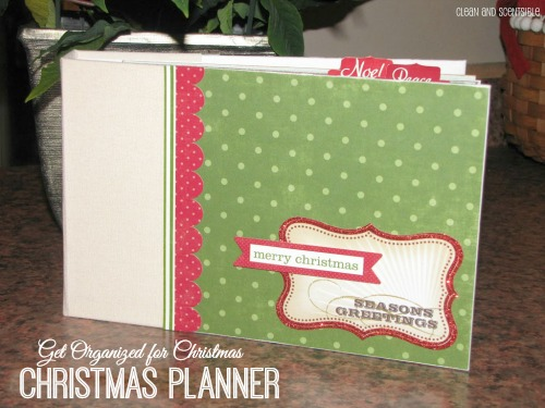 Scrapbook Saturday – My Christmas Planner