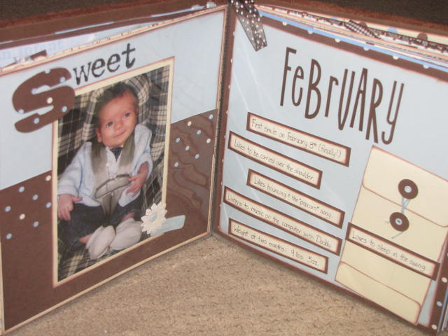 Beautiful Scrapbook Saturday {No. 12} - Baby Albums - Clean and Scentsible WN34