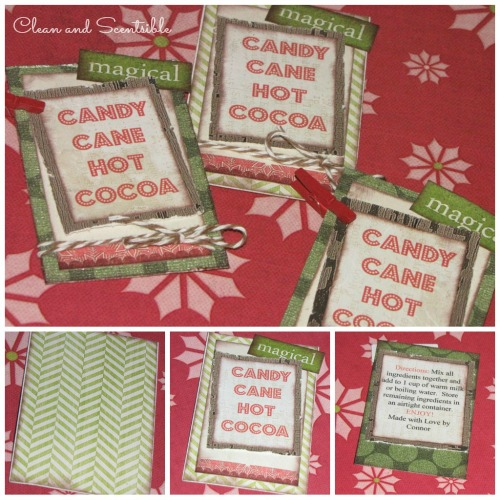Candy Cane Hot Cocoa Tags