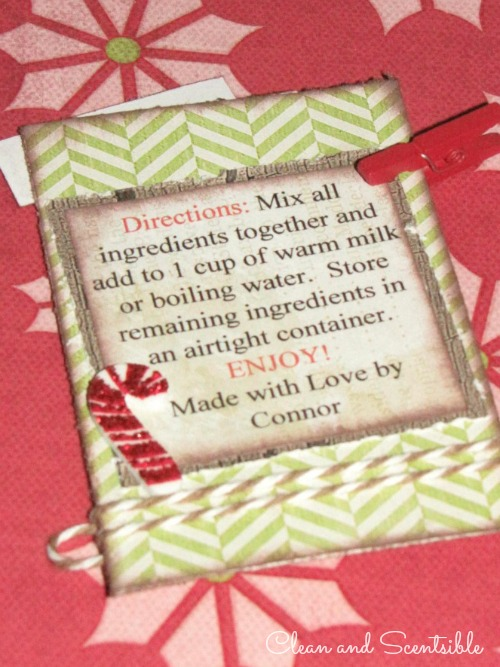Candy Cane Hot Chocolate Tag