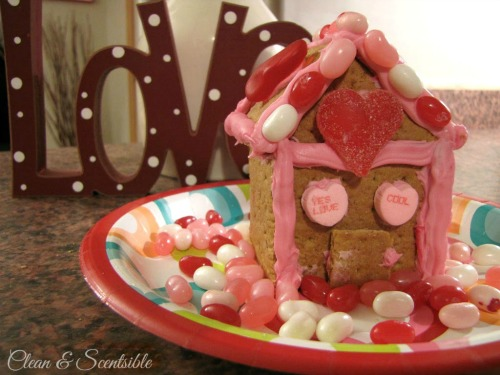 Valentine's Day graham cracker house!