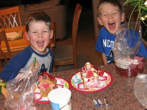 Valentine's Day graham cracker house