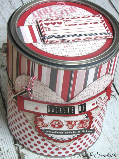 Valentine's Day paint can - this is so cute for wrapping up gifts!
