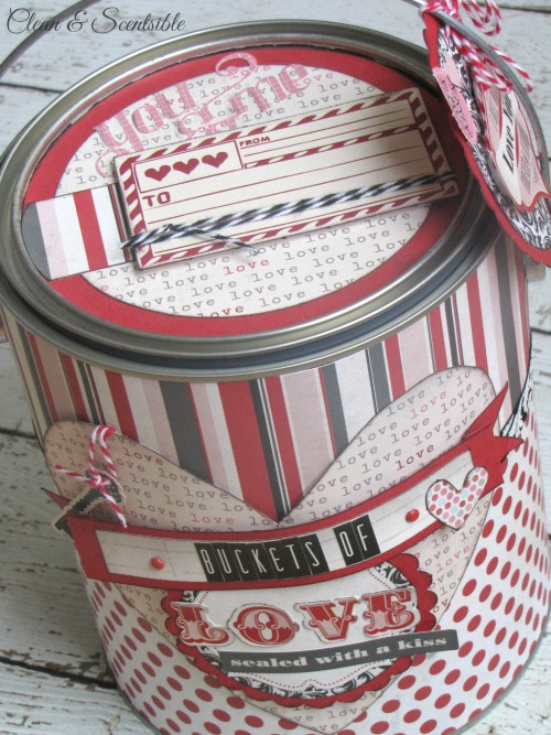 Valentines Day paint can - such a cute idea for packaging up gifts!