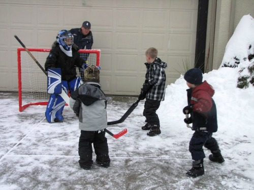 Winter hockey.