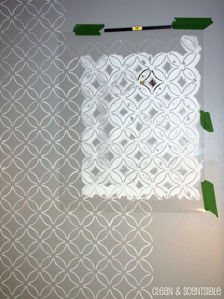 Wonderful Stenciled Bathroom Wall And The Cutting Edge Stencil Winner