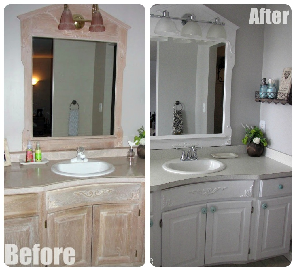 Formica bathroom countertops - Now I Really Wanted An Undermount Sink And Granite Countertops Would Have Been Nice Too But The Budget Only Allowed For A Basic Laminate Countertop