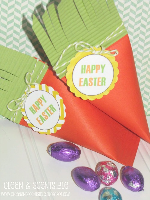Carrot treat boxes for Easter.
