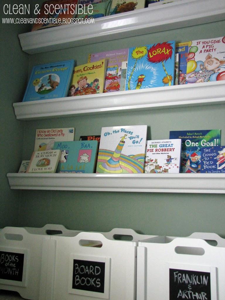 Reading Nook Gutter Bookshelves