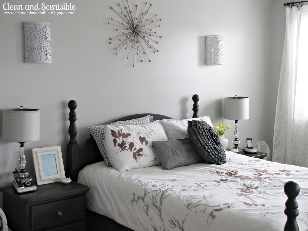 What Color Furniture Goes With Gray Walls Master Bedroom Makeover Clean And Scentsible