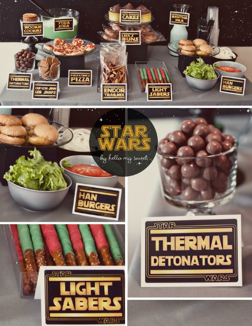 Star Wars Party Food - Clean and Scentsible