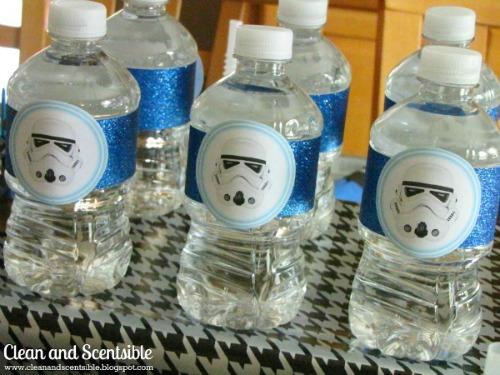 Free star wars water bottle printables.