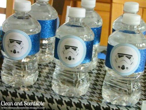 Free star wars water bottle printables.
