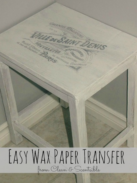 Easy wax paper transfer clean and scentsible for Printer transfer paper for wood