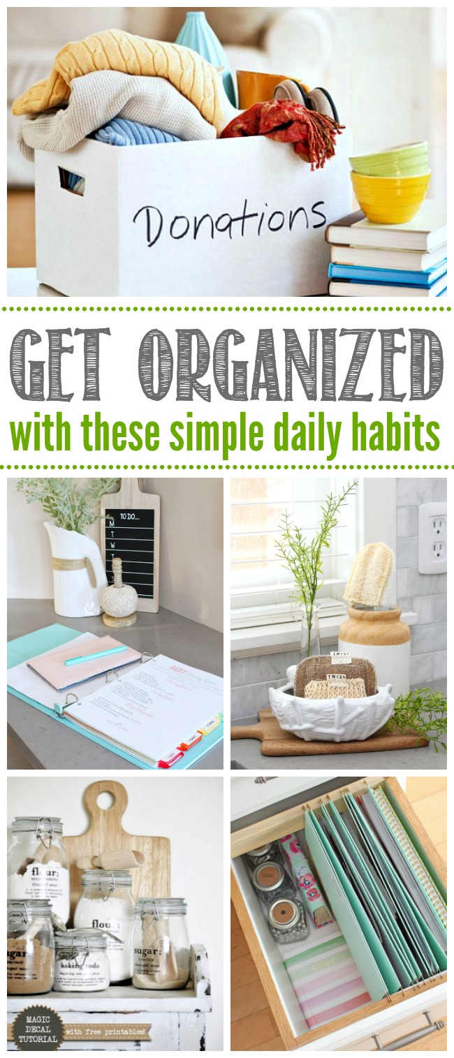 Collection of household organization ideas.