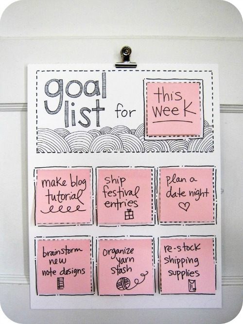 Fun ideas to help you create a to do list!