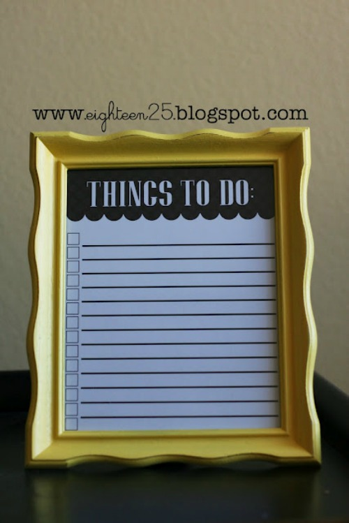 Fun ideas to help you crreate a to do list!
