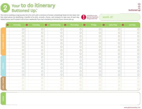 homework to do list