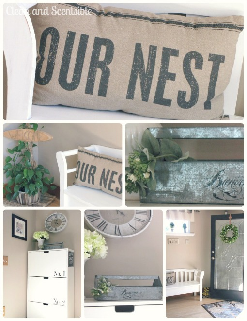 Front entry organization and design ideas.