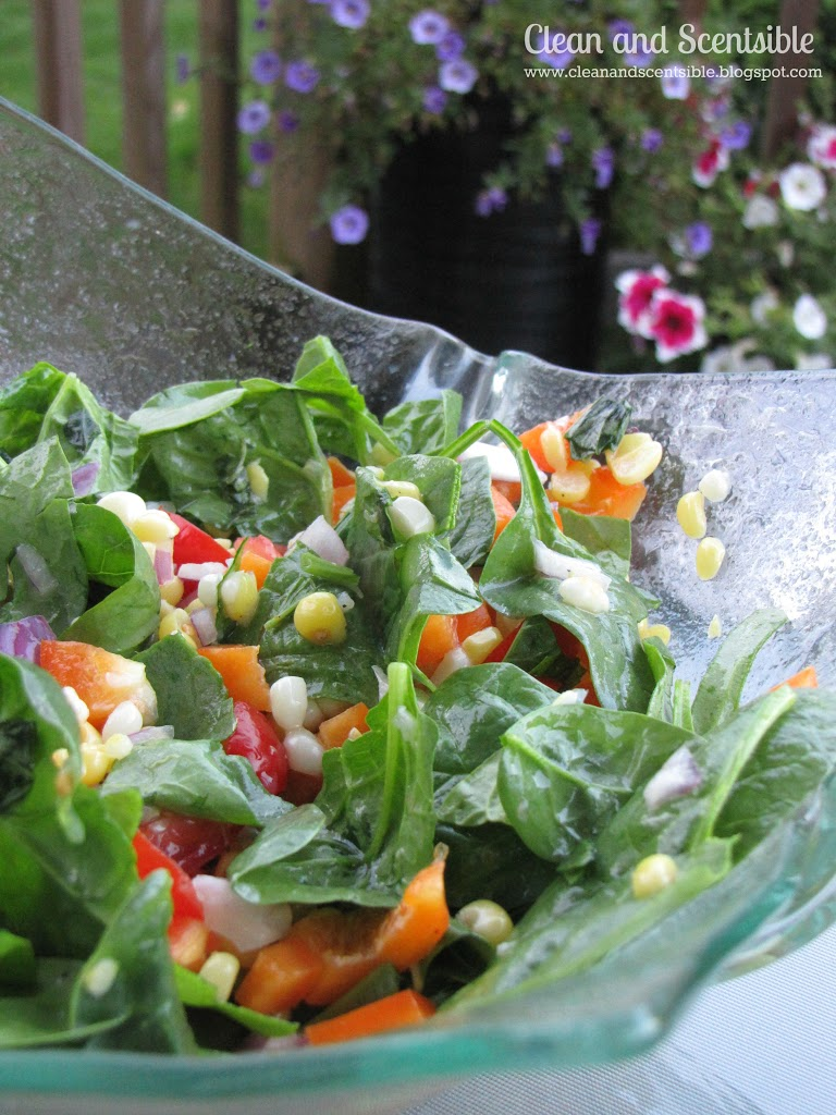 Fresh Corn and Spinach Salad