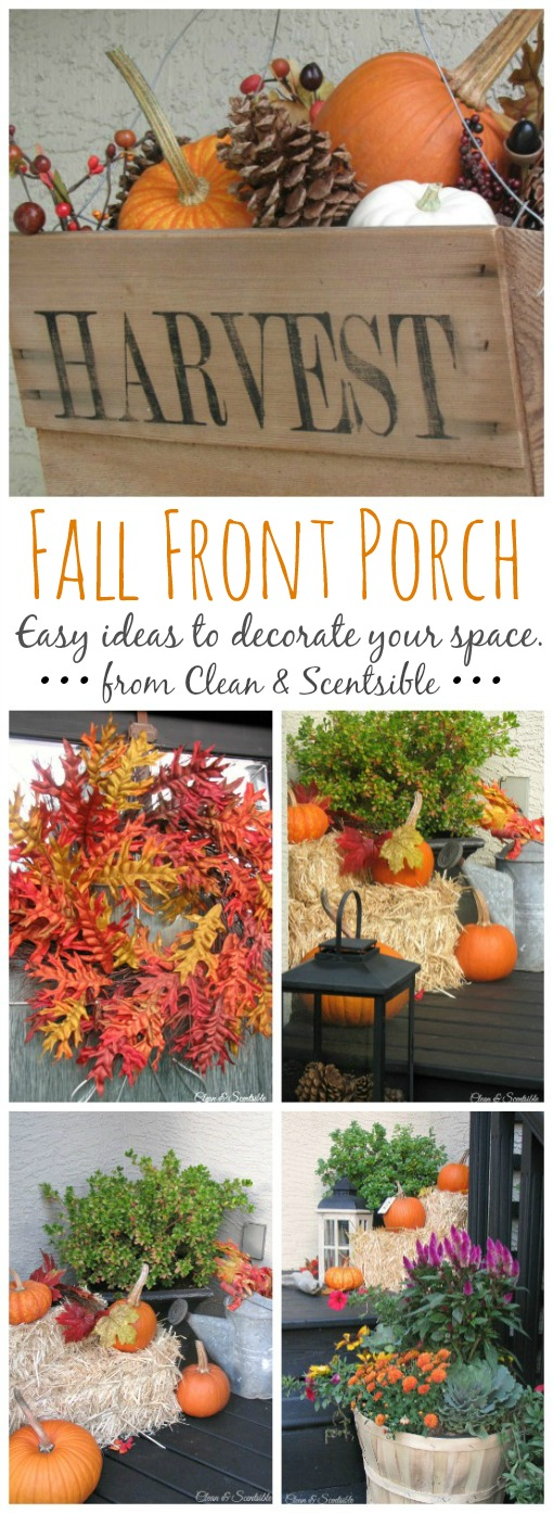 Love all of these pretty fall front porch decor ideas!