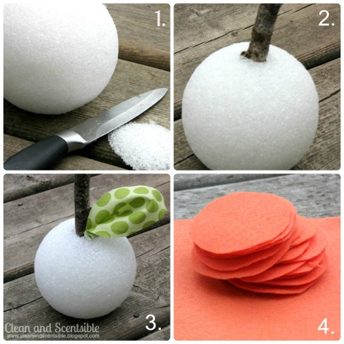 Felt pumpkin tutorial.