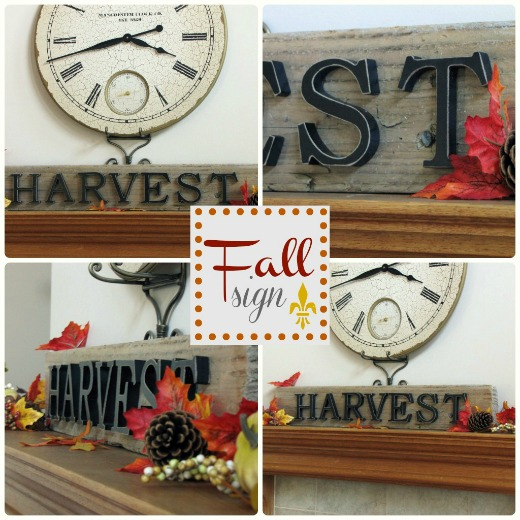 Rustic fall sign.