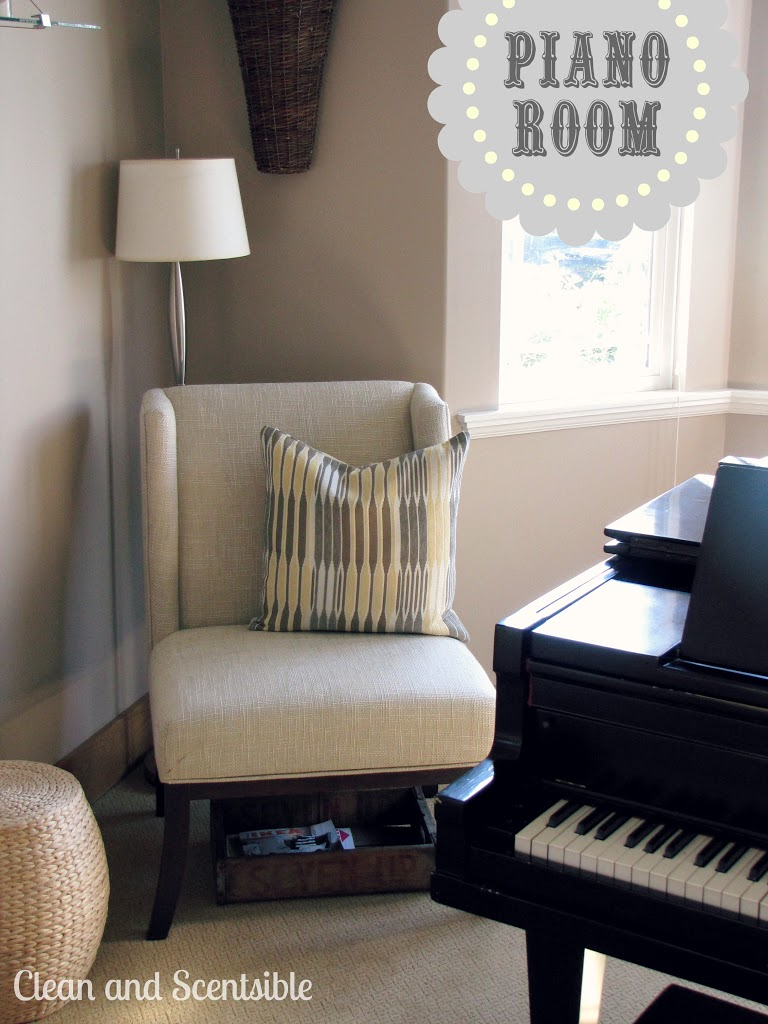 Our piano room clean and scentsible for Piano room decor