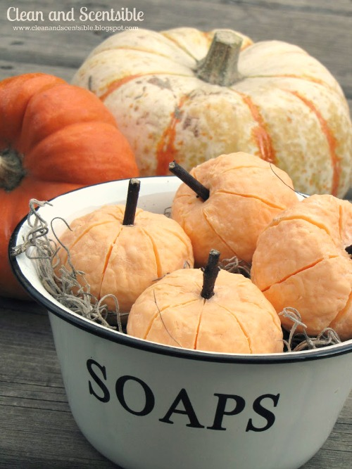 Easy tutorial on how to create these adorable pumpkin soaps!