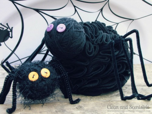 Easy to make Halloween spiders.