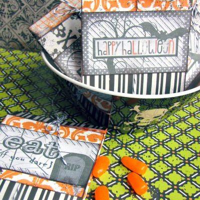 DIY Halloween treat packaging using free printable Halloween tags.